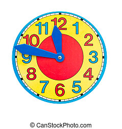 beautiful clock dial clock-face - beautiful colorful clock...
