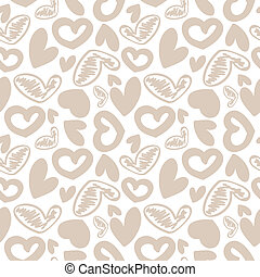 Fun seamless vintage love heart background in. pretty...