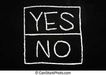 Yes and No Option