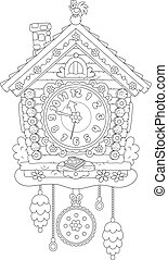 Cuckoo Clock - Toy cuckoo-clock, on a white background