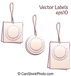Vector set of paper tags