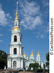 Saint Petersburg, Russia - Bell tower of the Cathedral of...