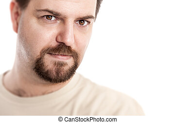 handsome young man - A handsome young man with a goatee...