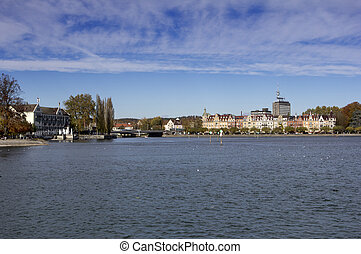 lake constance - lake of constance with view to constance