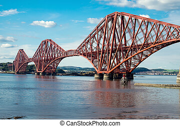 Forth railway bridge in Scotland - The impressing railway...
