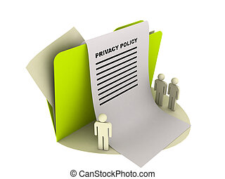privacy policy icon - illustration of a privacy policy icon...