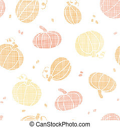 vector Thanksgiving pumpkins textile seamless pattern...