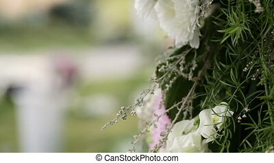 Flowers Arrangement several - Beautifully decorated festive...