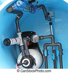 Pływacki, kałuża, instalacja wodociągowa