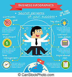 Business infographics set - Business life infographic set...