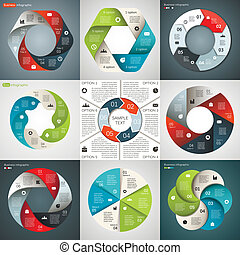 Vector circle infographic Template for diagram, graph,...