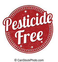 Pesticide free stamp - Pesticide free grunge rubber stamp on...