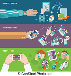 Digital health banner - Digital health healthy lifestyle...
