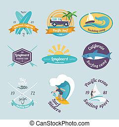 Surfing labels set