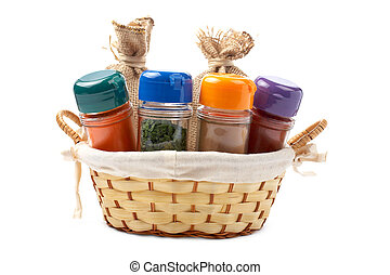 Spices jars - Assortment of spices jars for prepare tasty...