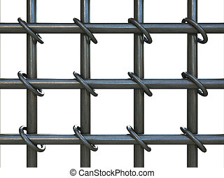 Prison bars - prison bars isolated over white