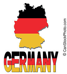 Germany map flag and text