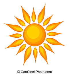 Sun illustration - Sun over white background. Vector...