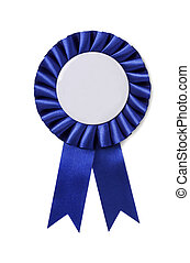 Award badge isolated on a blue background
