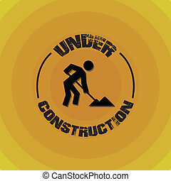 Underconstruction design - Underconstruction over yellow...