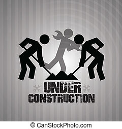 Underconstruction design - Underconstruction over gray...