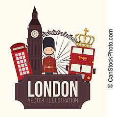Lodon ndesign - London design over white background, vector...