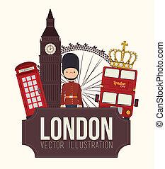 Lodon ndesign - London design over white background, vector...