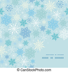 Vector falling snow frame corner pattern background
