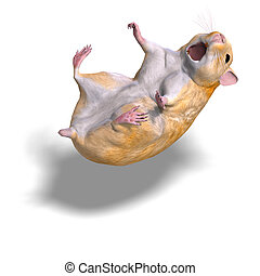 cute hamster - 3D rendering of a sweet hamster with clipping...