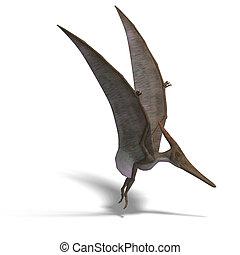 Dinosaur Pteranodon - flying dinosuar Pteranodon 3D render...