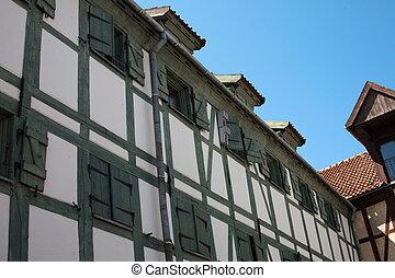 Parts of Old fahwerk houses - Prussian German Fachwerk...