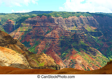 Waimea Canyon - taken at Waimea Canyon on the island of...