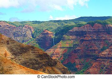 Waimea Canyon - taken at Waimea Canyon on the island of...