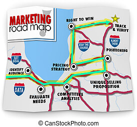 Marketing Road Map Directions Success Launch New Product...