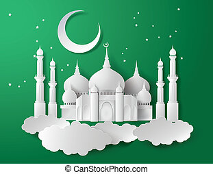 Vector of paper Mosque. - Vector of Paper Mosque....