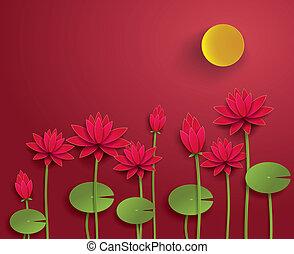 Vector Paper Lotus.