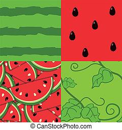 Water melon EPS10 vector