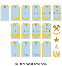 Insignia of the railway workers of - Military ranks and...
