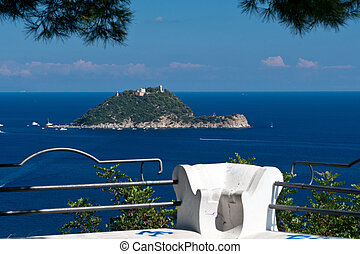 Viewpoint over Isola Gallinara - Panoramic view in Alassio....