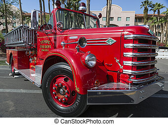 Historic Old Fire Engine from Tempe - Historic antique fire...
