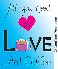 "All You Need is Coffee - Coffee House Sign Quote ""All You..."