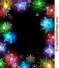electric star - electrical , Christmas lanterns in the shape...