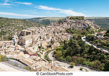 Ragusa Ibla small town in Silcily