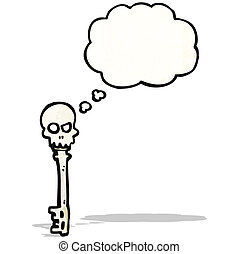 spooky skeleton key cartoon