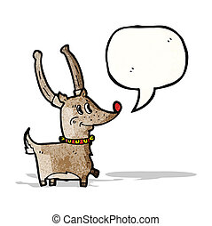 reindeer with speech bubble cartoon