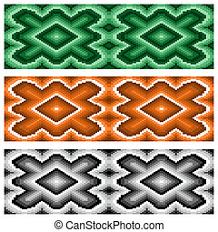 Set of three seamless rhombic patterns - Set of three...