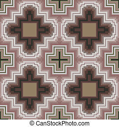 Seamless pattern in soft cocoa hues - Seamless vector...