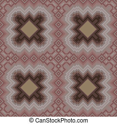 Seamless pattern in cocoa hues - Seamless vector pattern in...