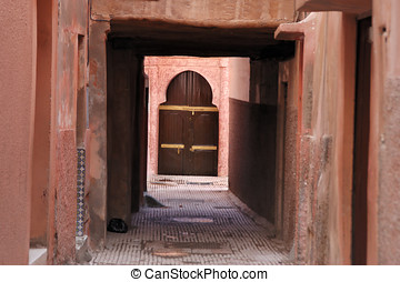 An alley in the medina , Marrakech - An small alley in the...