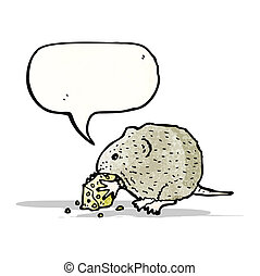 mouse nibbling cheese